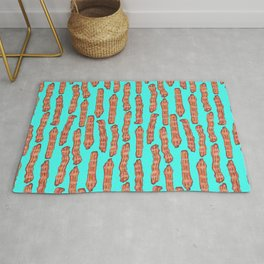 Bacon lovers pattern Rug