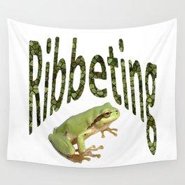 Ribbeting Frog Wall Tapestry
