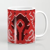 warcraft Mugs featuring Ugly Sweater 2 by SlothgirlArt
