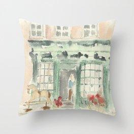 Covent Garden Shop Throw Pillow