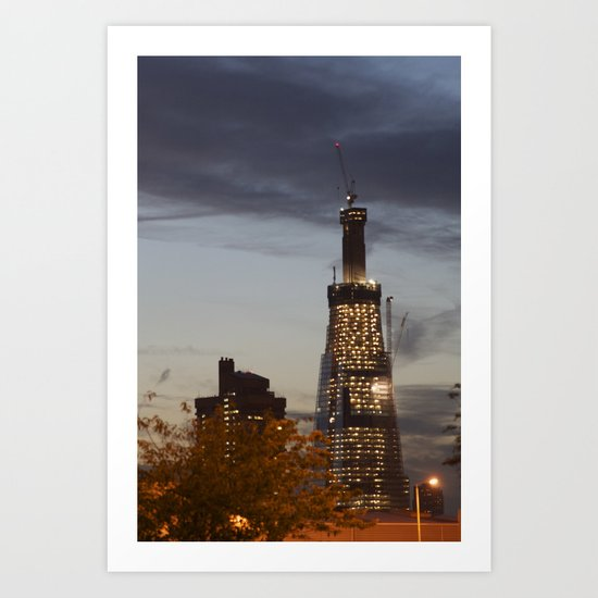 The Shard...the super fast growing skyscraper Art Print