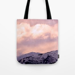 Kenai Mts Bathed in Serenity Rose Tote Bag