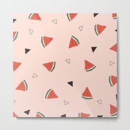 Watermelon x Retro Metal Print