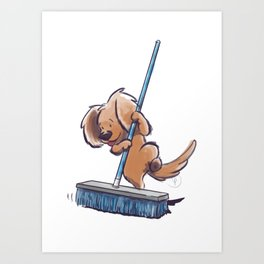 Potato Wins by a Clean Sweep! Art Print