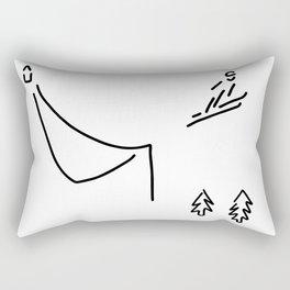 ski jumper digs ski jumping fly Rectangular Pillow
