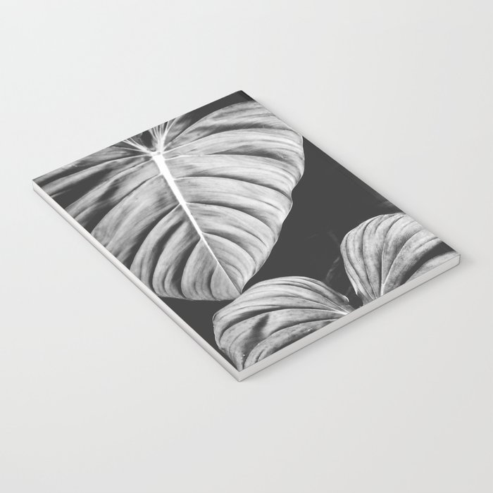 Monstera Black and White Notebook