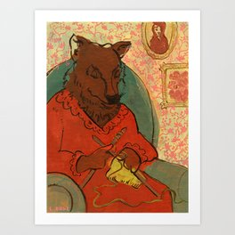 Mr. Wolf Ate Granny Art Print