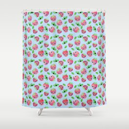 Strawberry skulls Shower Curtain