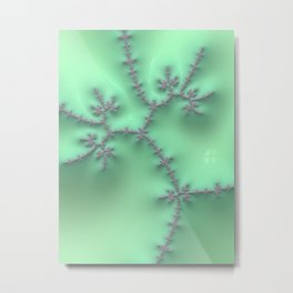 Mint and Lavender Metal Print
