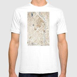Los Angeles California City Map T-shirt