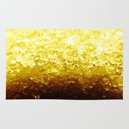 Golden Yellow Ombre Crystals Rug