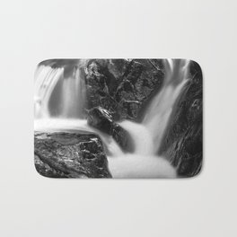 Shelving Rock Stream - Black & White Bath Mat