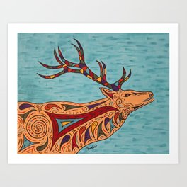 The Bugle Boy Elk Art Print