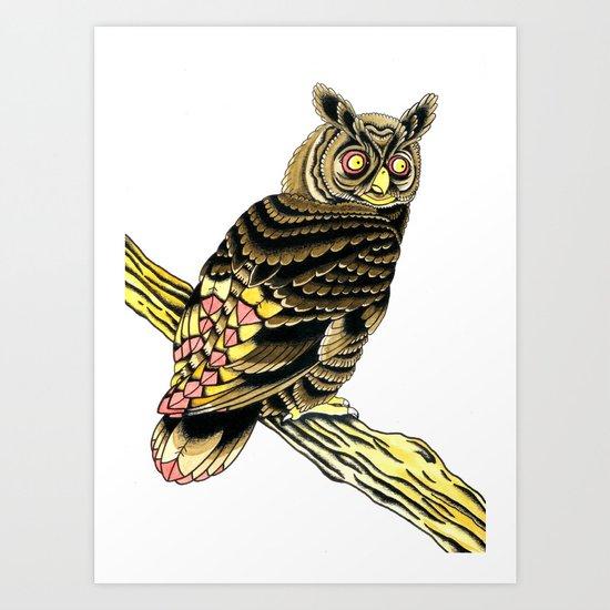 Owl Owl Owl Art Print
