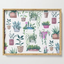 Garden Plants Collection Serving Tray