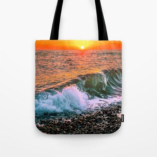 Sunset splash Tote Bag