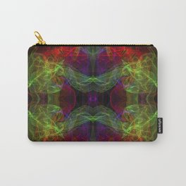 Abstract and symmetrical texture in the form of colorful smoke clouds. Carry-All Pouch