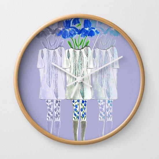 Iris Illustration Wall Clock