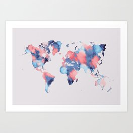 map world map 58 Art Print