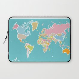 Map Print Laptop Sleeve