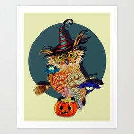 Owl Scary Art Print