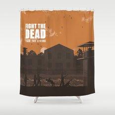 The Walking Dead Prison Walkers Shower Curtain