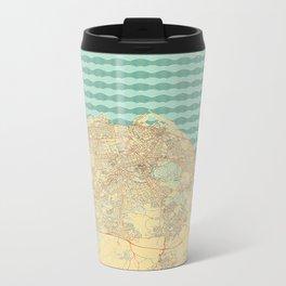 Edinburgh Map Retro Metal Travel Mug