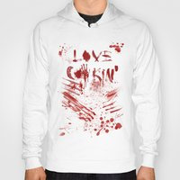 cooking Hoodies featuring Love cooking by Poizon Poizon