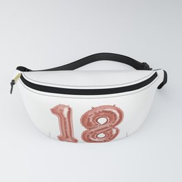 Rose Gold 18th Birthday Metallic Helium Balloons Numbers Fanny Pack