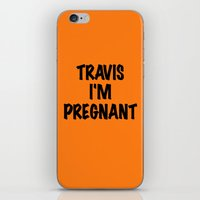 blink 182 iPhone & iPod Skins featuring BLINK 182 - TRAVIS I'M PREGNANT! by amy.
