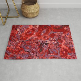 Marble Ruby Blood Red Agate Rug