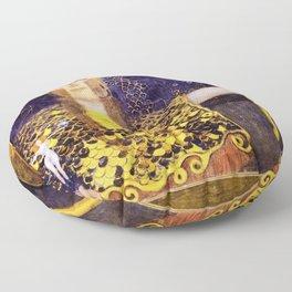 Gustav Klimt - Pallas Athena - Digital Remastered Edition Floor Pillow