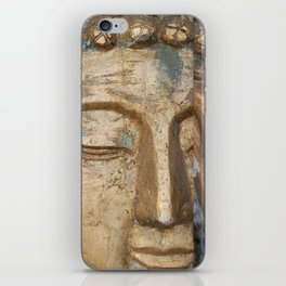 Golden Faces Of Buddha iPhone Skin