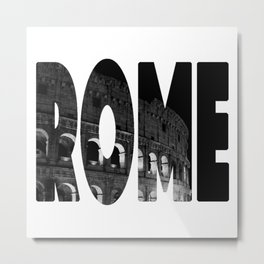 Rome - Black & White Metal Print