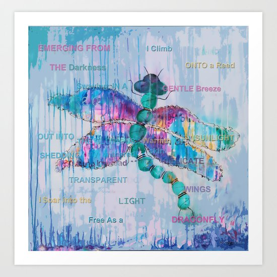 Journey of the Dragonfly Art Print