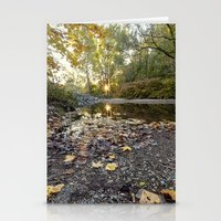 indiana Stationery Cards featuring indiana fall by Bonnie Jakobsen-Martin