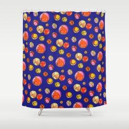 Juggling Balls (blue background) Shower Curtain