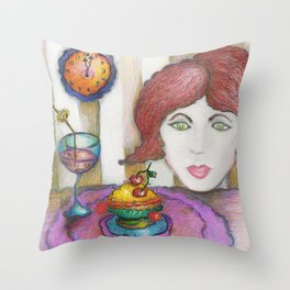 I am on a diet before Midnight! Throw Pillow