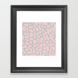 Seg African Grey and Pink Framed Art Print