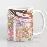 portland Mugs featuring Portland by MapMapMaps.Watercolors