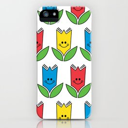 Flowers Of Primary Colors - Fleurs Aux Couleurs Primaires iPhone Case
