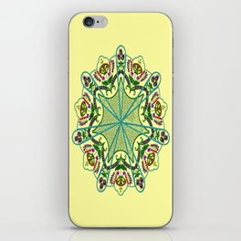 Mandala in florals iPhone Skin