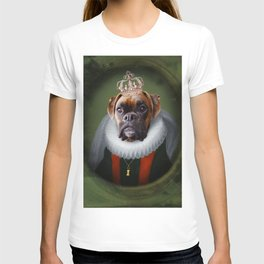 Queen Charlie - Boxer Dog Portrait T-shirt