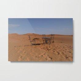 Desert morning Metal Print
