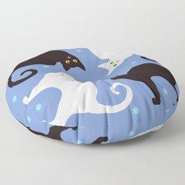 Cats Blue Floor Pillow