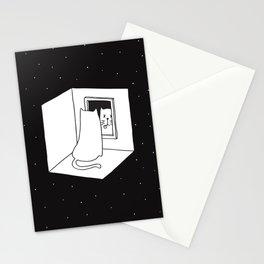Schrödinger's cat Stationery Cards