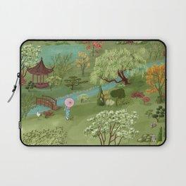 Wabi Sabi Japanese Garden Scene Laptop Sleeve