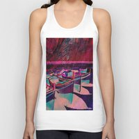 boats Tank Tops featuring vintage boats by  Agostino Lo Coco