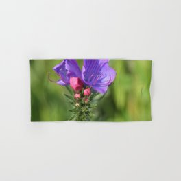 Viper's bugloss blue and pink flowers 2 Hand & Bath Towel