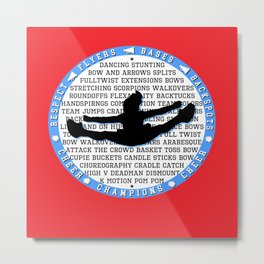 cheer blue on red Metal Print